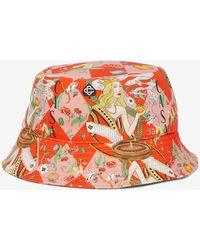 CASABLANCA Graphic-print Denim Bucket Hat - Red