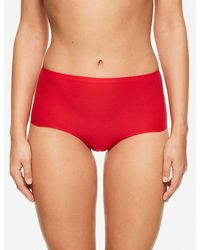 Chantelle Soft Stretch High-rise Woven Briefs - Red