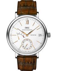 Iwc Iw510103 Portofino Leather Watch - Metallic