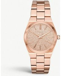 748cae238f66 Michael Kors - Mk6624 Jet Set Rose-gold Stainless Steel And Crystal  Embellishments Watch -