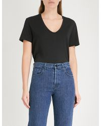 J Brand - Johnny Cotton-jersey T-shirt - Lyst