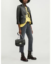 Zadig & Voltaire Verys Leather Jacket - Black