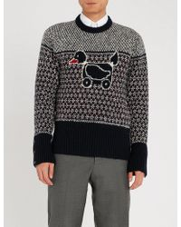 Thom Browne - Duck-embroidered Wool And Mohair-blend Jumper - Lyst