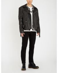 DEADWOOD Reno Fringed Leather Jacket - Black