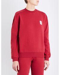 Les Girls, Les Boys - Mini Logo Stretch-cotton Sweatshirt - Lyst