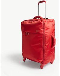 Lipault Originale Plume Four-wheel Cabin Suitcase 65cm - Red