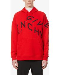 Givenchy Refracted Logo-embroidered Cotton-jersey Hoody