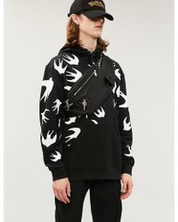 McQ - Swallow-print Cotton-jersey Hoody - Lyst