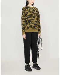 A Bathing Ape Camouflage-patterned Cotton-jersey Jumper - Green