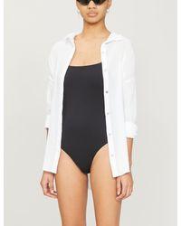 Seafolly Womens White Classic Cotton Beach Shirt S