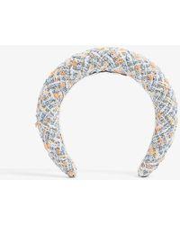 Maison Michel Miwa Textured Cotton-blend Headband - Multicolour
