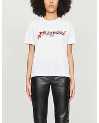 The Kooples Logo-print Cotton-jersey T-shirt - White
