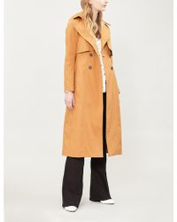 Ba&sh - Cleder Double-breasted Stretch-cotton Trench Coat - Lyst