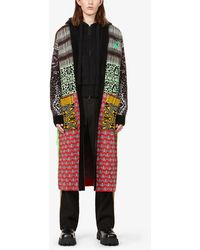 Off-White c/o Virgil Abloh Persian Fantasy Brand-embroiderd Knitted Cardigan - Multicolour