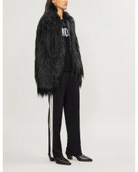 Zadig & Voltaire Fridas Open-front Faux-fur Coat - Black