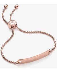 Monica Vinader Havana Mini 18ct Rose-gold Vermeil Friendship Bracelet - Metallic