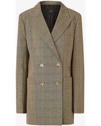 JOSEPH Josie Glen-plaid Wool-twill Blazer - Multicolour