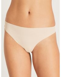 Wacoal - Beyond Naked Stretch-cotton Thong - Lyst