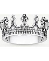 Thomas Sabo Kingdom Of Dreams Sterling Silver Crown Ring - Metallic