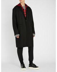 Juun.J - Hooded Wool Coat - Lyst