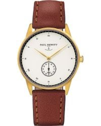 PAUL HEWITT - Signature Line Rose Gold-plated Leather Watch - Lyst