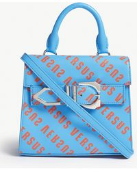 Versus - Iconic Buckle Logo-print Leather Bag - Lyst