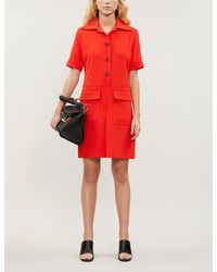 Victoria, Victoria Beckham Shirt Dress - Red