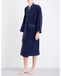 KENZO Ken Tiger Towel Robe - Blue