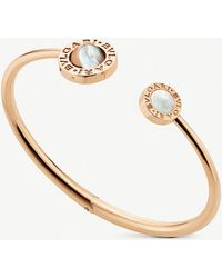 BVLGARI - 18ct Rose-gold And Mother Of Pearl Bracelet - Lyst