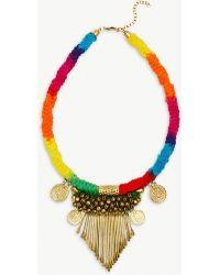 RAGYARD - Rainbow Embellished Necklace - Lyst