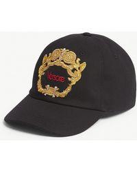 Versace - Framed Logo Cotton Baseball Cap - Lyst