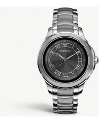 Emporio Armani - Art5010 Alberto Stainless Steel Smart Watch - Lyst