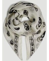 Alexander McQueen - Skull Print Silk Scarf - Lyst