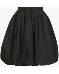 Patou Generous High-waisted Shell Mini Skirt - Black