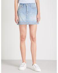 FRAME - Le Studded Mini Denim Skirt - Lyst