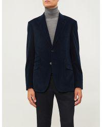 Gieves & Hawkes Regular-fit Corduroy Jacket - Blue