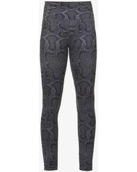 All Fenix Python Graphic-print Stretch-jersey leggings - Grey