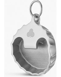 Chaos Bottle Top Opener Silver-plated Charm - Metallic