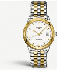 Longines - L4.874.3.22.7 Flagship Collection Yellow Gold And Stainless Steel Watch - Lyst