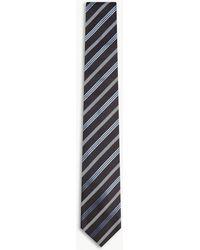 Tiger Of Sweden - Rutger Diagonal-stripe Silk Tie - Lyst
