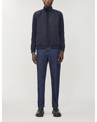 Ted Baker Funnel-neck Shell And Knitted Jacket - Blue