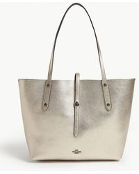 COACH - Market Leather Tote - Lyst