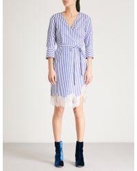 Mo&co. - Striped Cotton Dress - Lyst