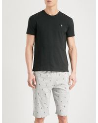 Polo Ralph Lauren - Printed Relaxed-fit Cotton-jersey Shorts - Lyst
