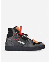 Off-White c/o Virgil Abloh Off-court Leather High Top Sneakers - Black