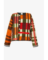 BETHANY WILLIAMS Upcycled Cropped Quilted Wool-cotton Blend Jacket - Multicolour