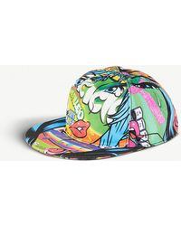 Moschino - Crazy Fruits Printed Cotton Snapback Cap - Lyst