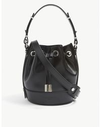 The Kooples Nano Tina Leather Bucket Bag - Black