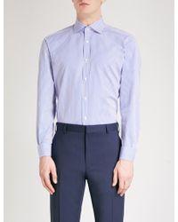 Ralph Lauren Purple Label - Aston Striped Regular-fit Cotton-blend Shirt - Lyst