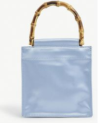 Hai Bamboo Small Recycled-silk Handbag - Blue